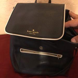 Kate Spade navy backpack purse